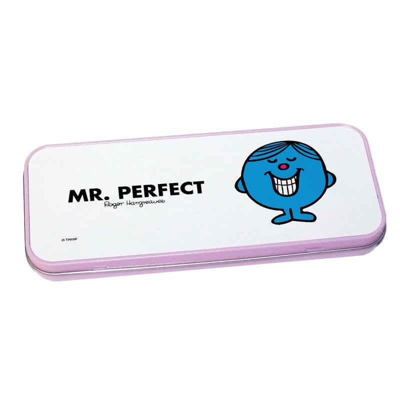 Mr. Perfect Pencil Case Tin (Pink)