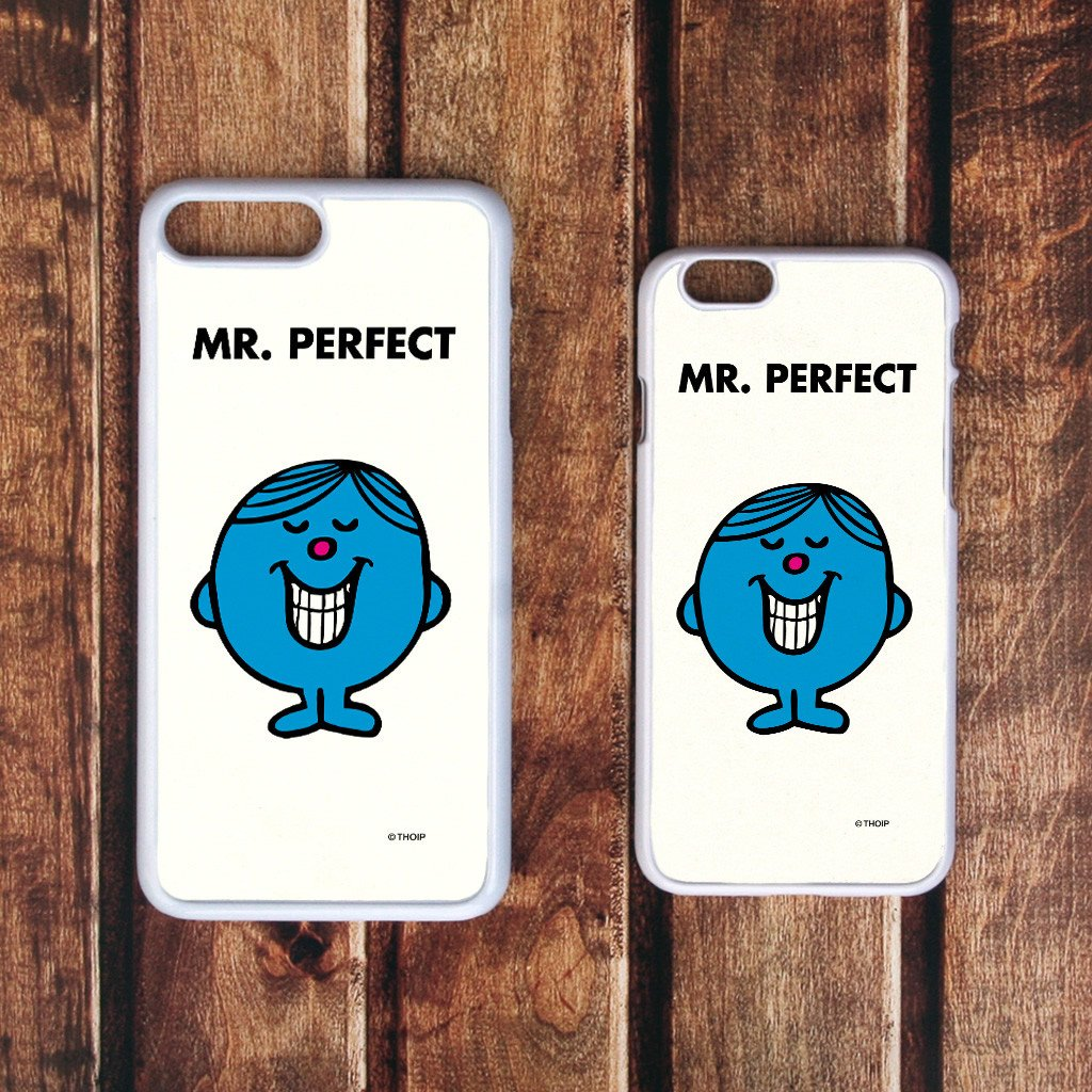 Mr. Perfect White Phone Case (Lifestyle)