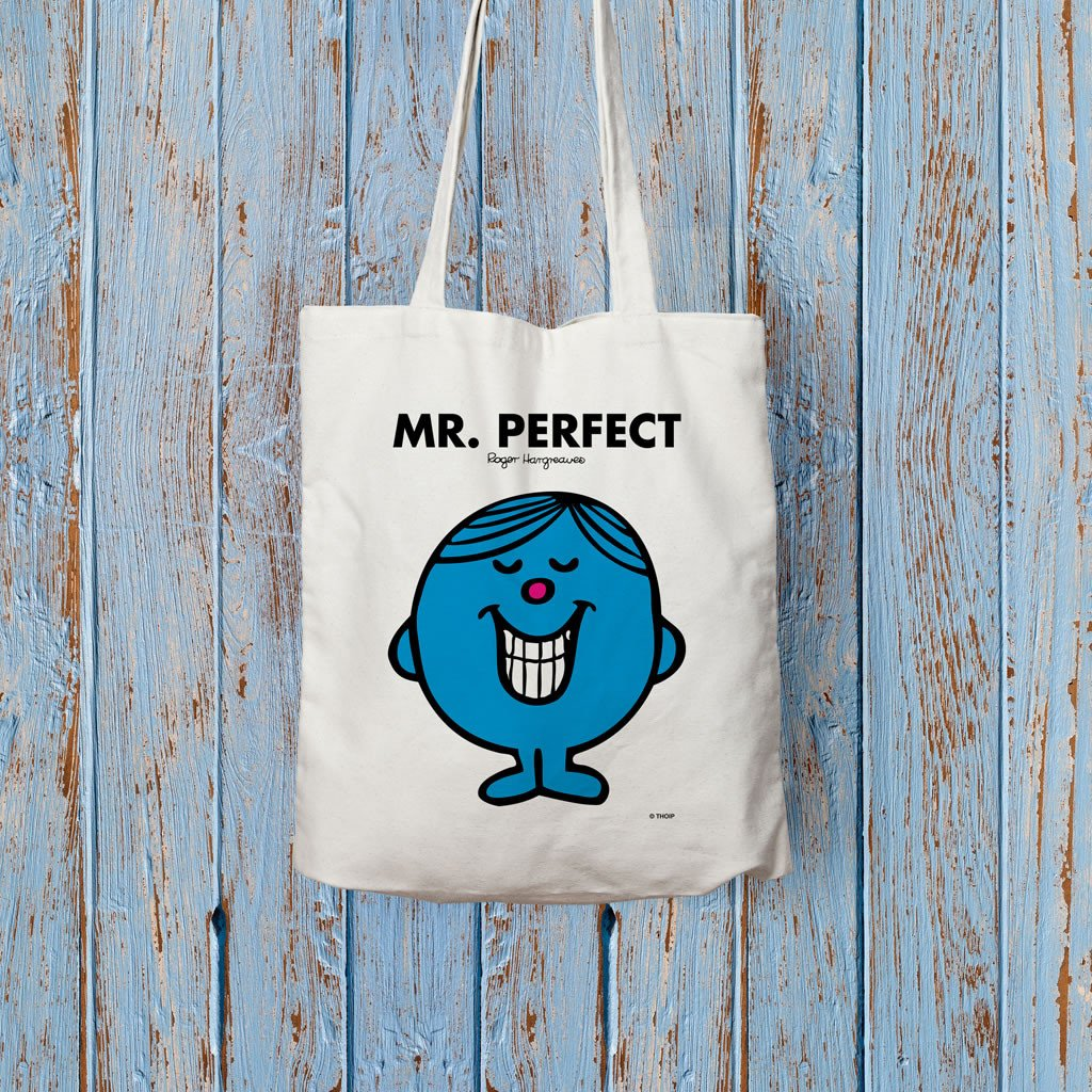 Mr. Perfect Long Handled Tote Bag (Lifestyle)