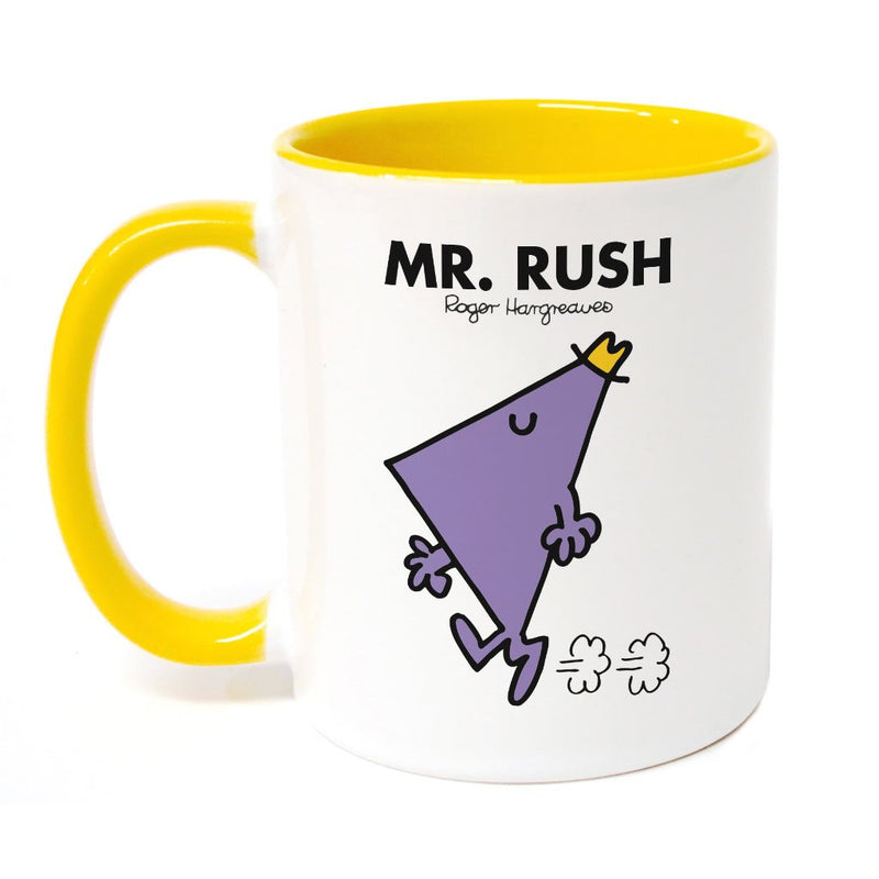 Mr. Rush Large Porcelain Colour Handle Mug