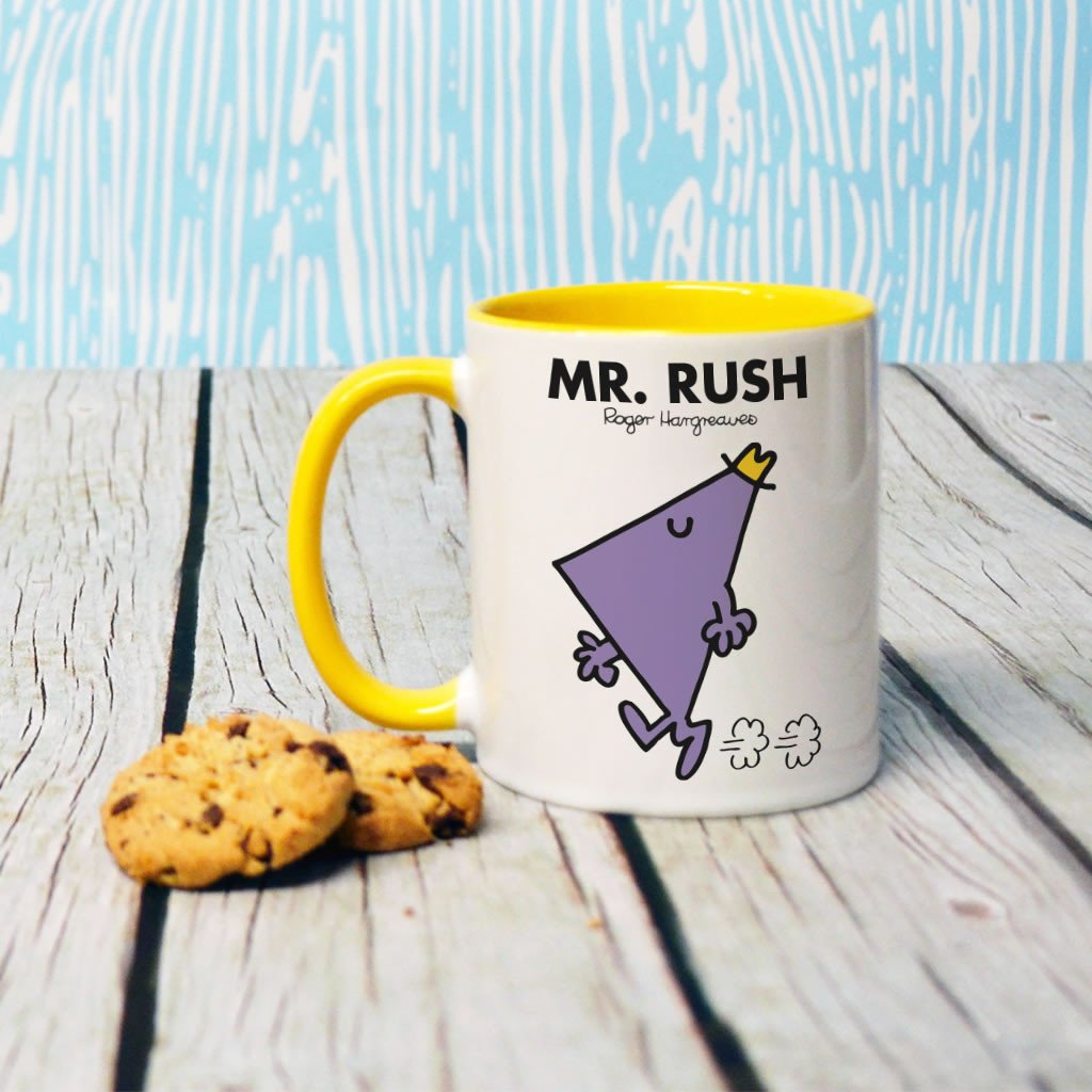 Mr. Rush Large Porcelain Colour Handle Mug (Lifestyle)