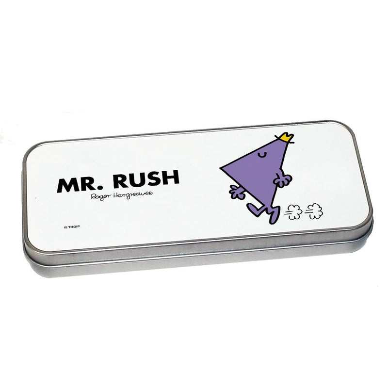 Mr. Rush Pencil Case Tin (Silver)