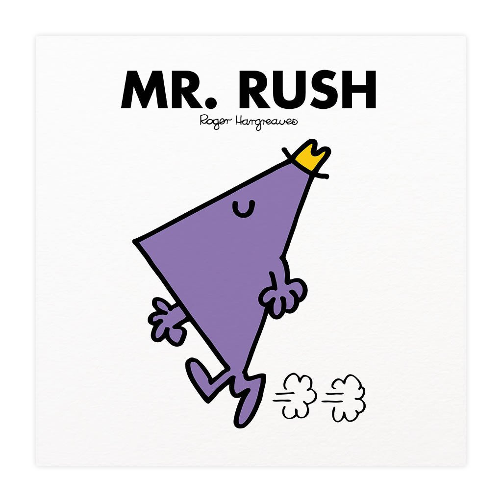 Mr. Rush Mounted Art Print