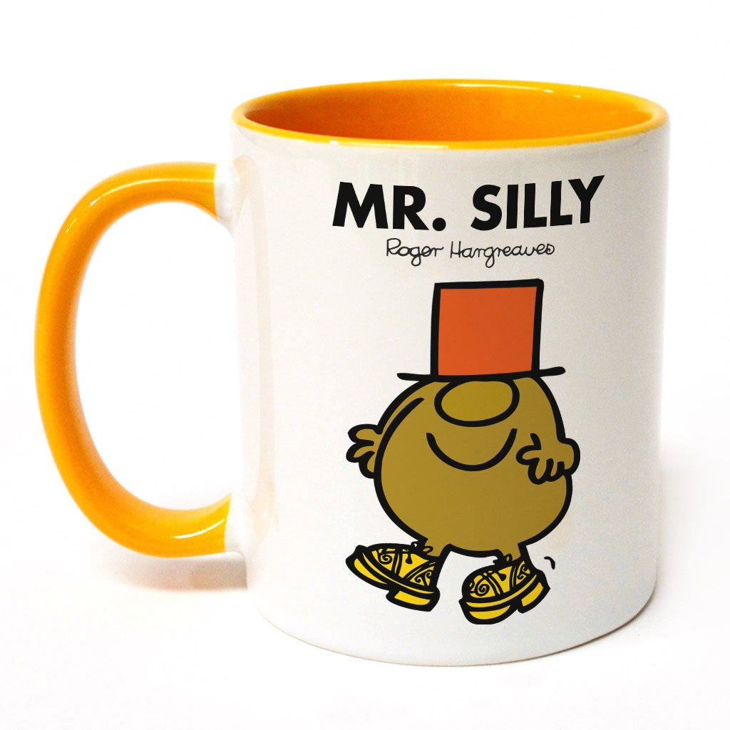 Mr. Silly Large Porcelain Colour Handle Mug