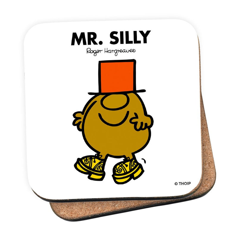Mr. Silly Cork Coaster