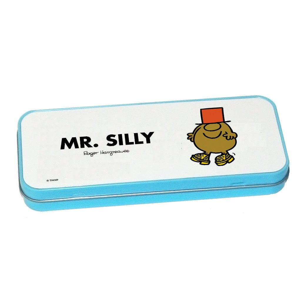 Mr. Silly Pencil Case Tin (Blue)