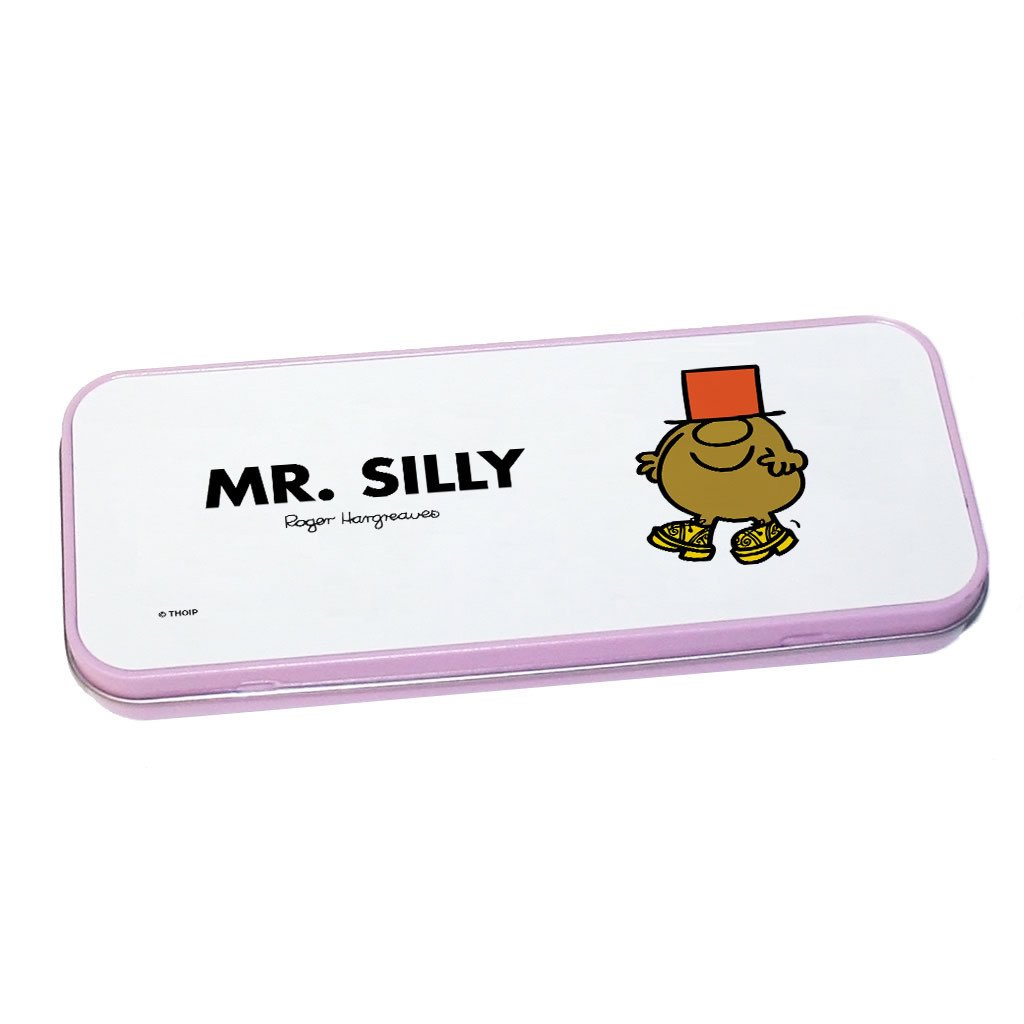 Mr. Silly Pencil Case Tin (Pink)