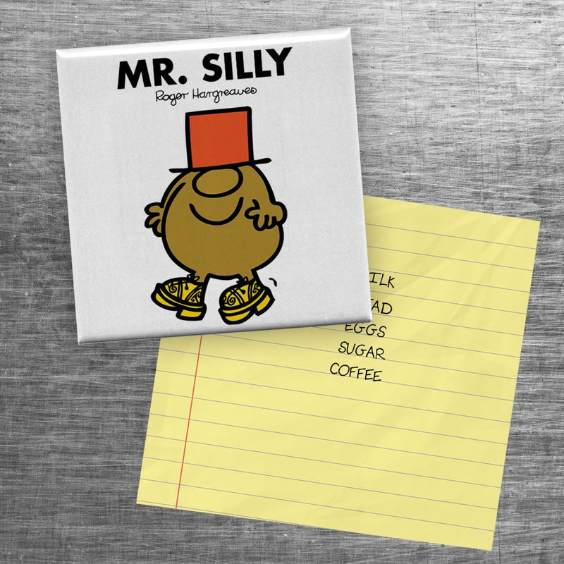 Mr. Silly Square Magnet (Lifestyle)
