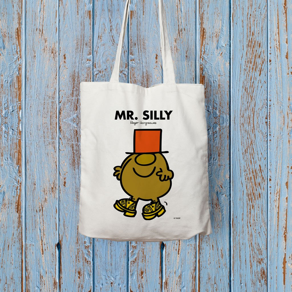 Mr. Silly Long Handled Tote Bag (Lifestyle)