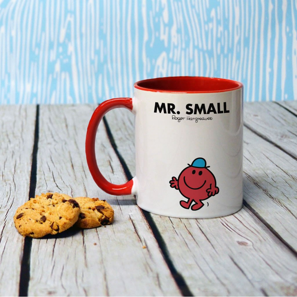 Mr. Small Large Porcelain Colour Handle Mug (Lifestyle)