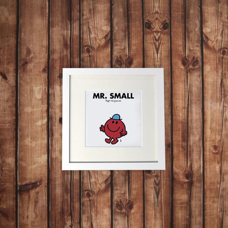 Mr. Small White Framed Print (Lifestyle)