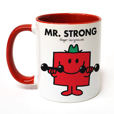 Mr. Strong Large Porcelain Colour Handle Mug