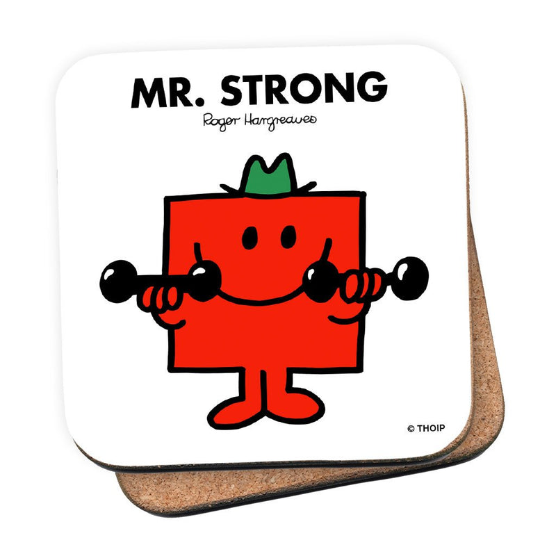 Mr. Strong Cork Coaster