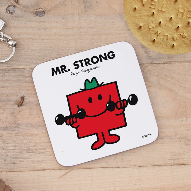 Mr. Strong Cork Coaster (Lifestyle)