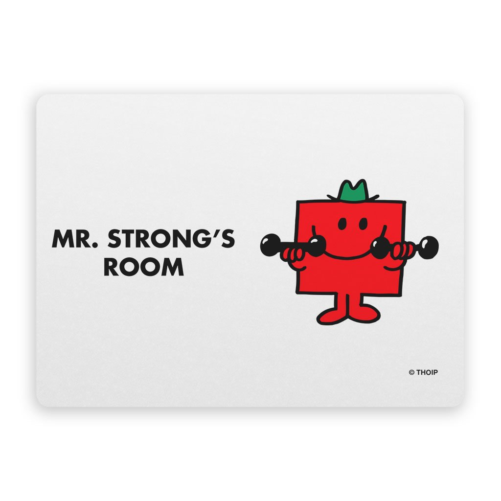 Mr. Strong Door Plaque