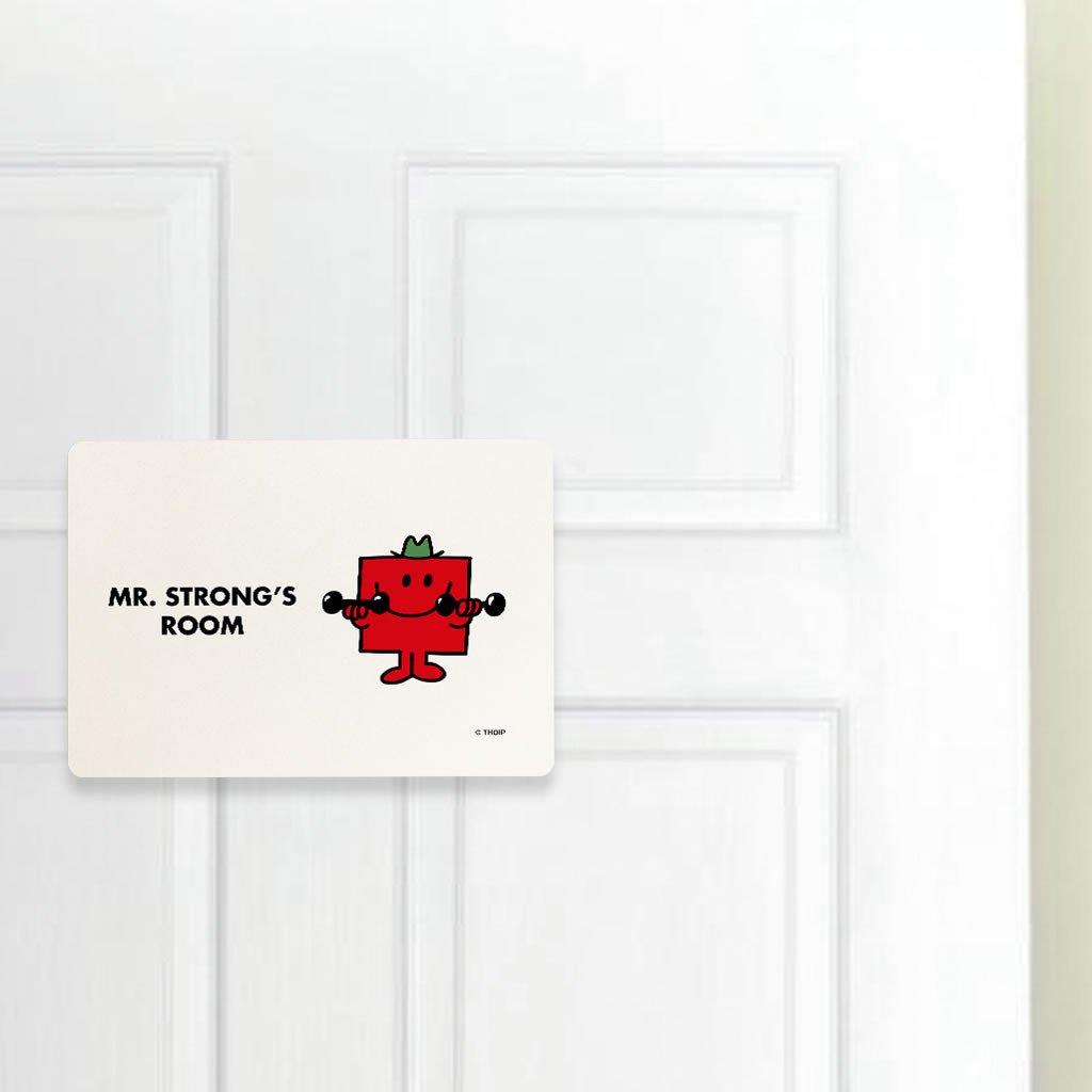 Mr. Strong Door Plaque (Lifestyle)