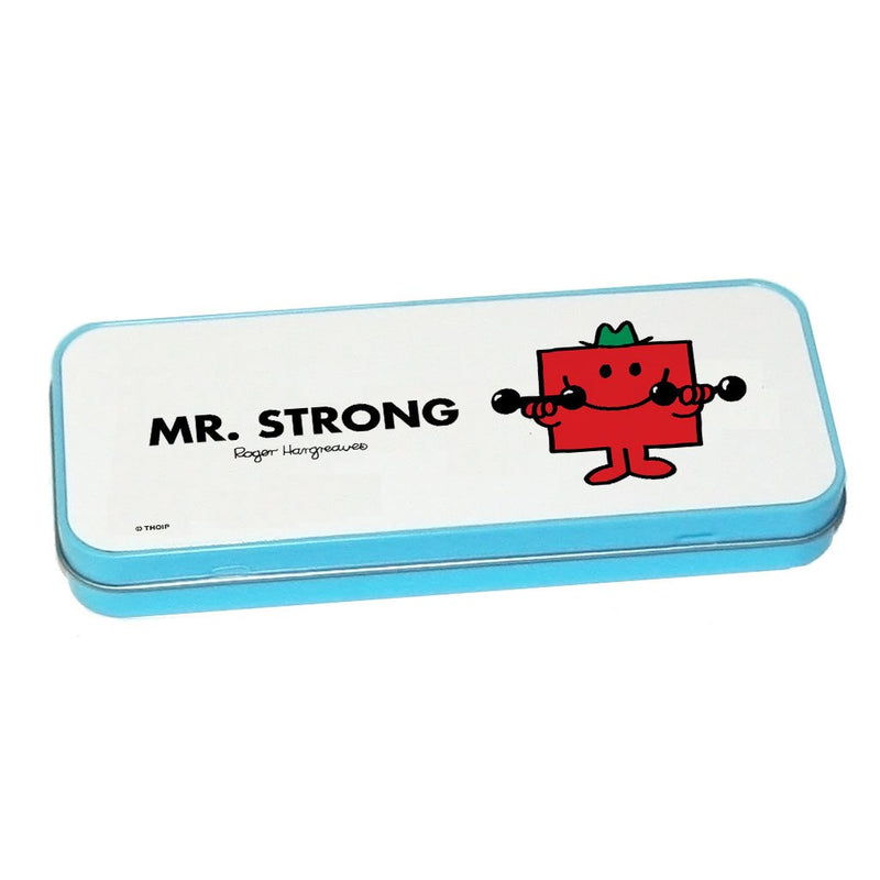 Mr. Strong Pencil Case Tin (Blue)