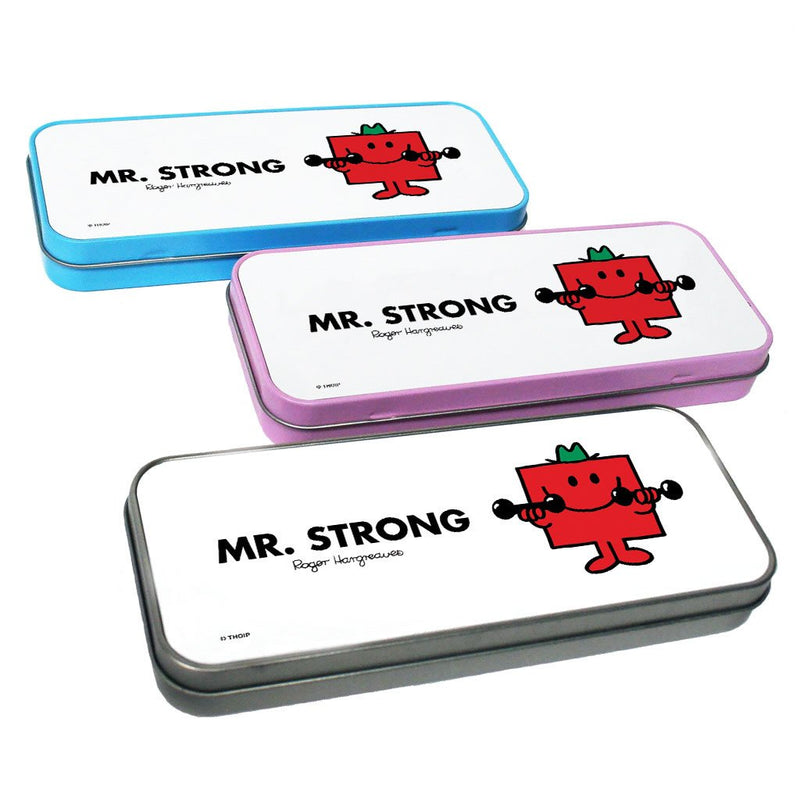 Mr. Strong Pencil Case Tin