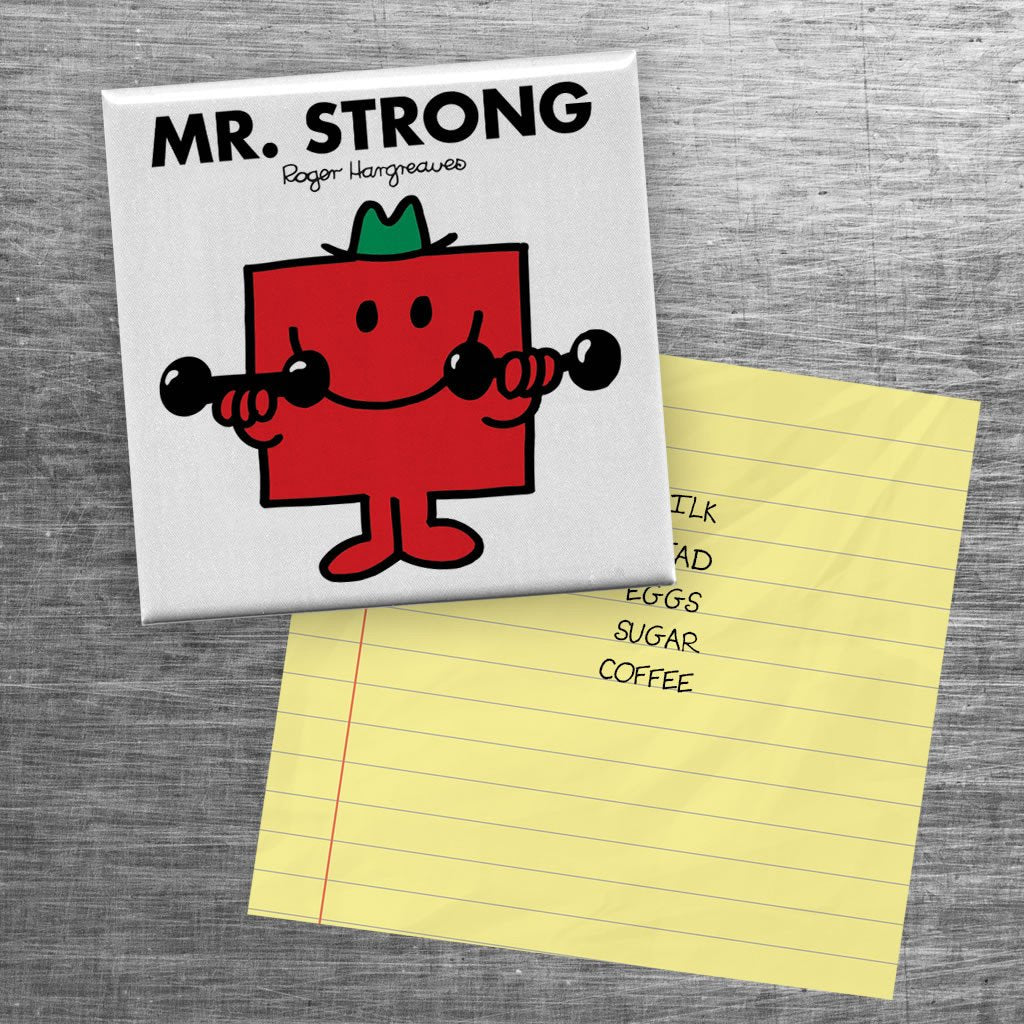 Mr. Strong Square Magnet (Lifestyle)