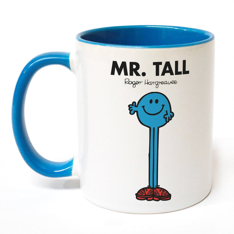 Mr. Tall Large Porcelain Colour Handle Mug