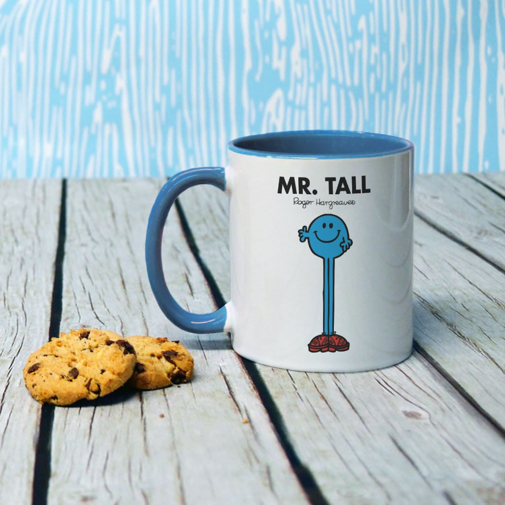 Mr. Tall Large Porcelain Colour Handle Mug (Lifestyle)