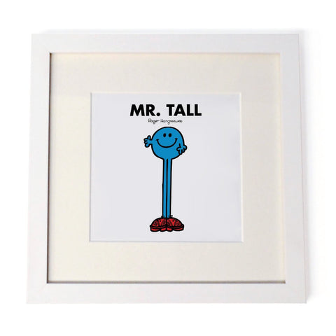 Mr. Tall White Framed Print