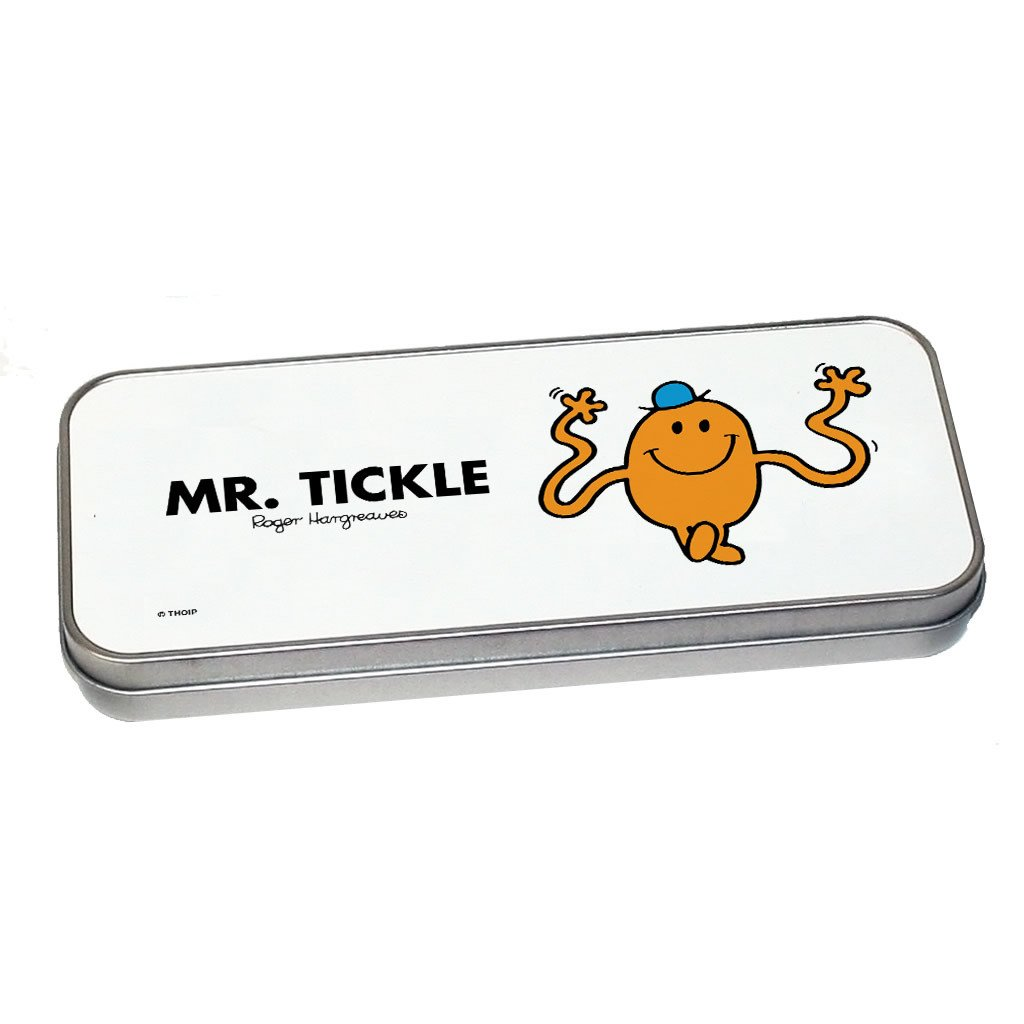 Mr. Tickle Pencil Case Tin (Silver)