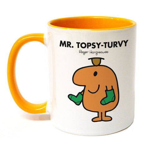 Mr. Topsy-turvy Large Porcelain Colour Handle Mug