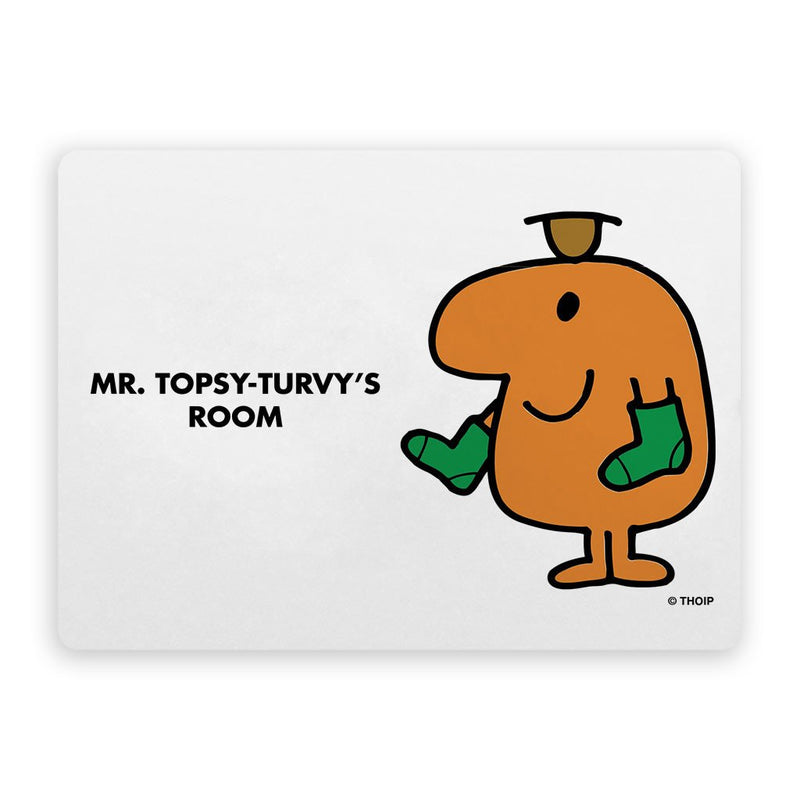 Mr. Topsy-turvy Door Plaque