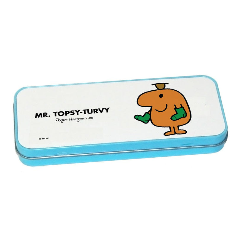 Mr. Topsy-turvy Pencil Case Tin (Blue)