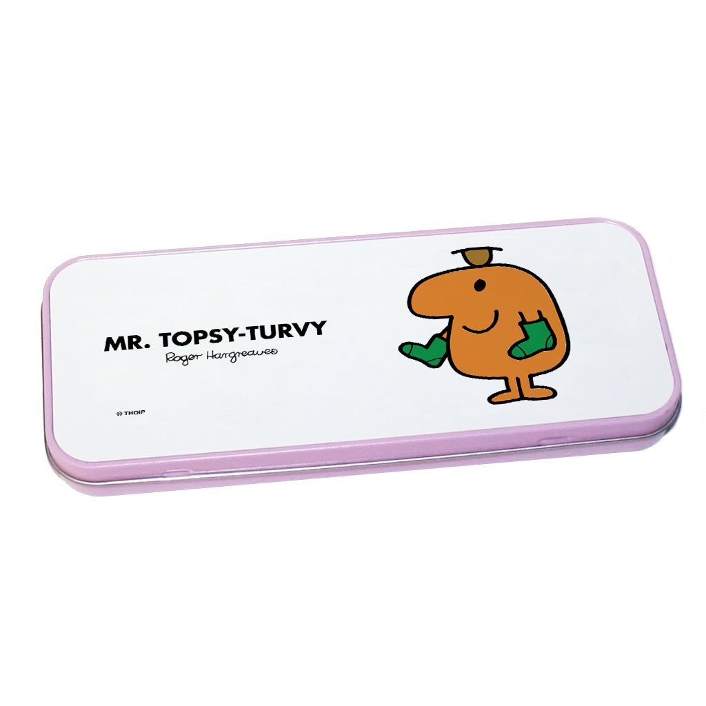 Mr. Topsy-turvy Pencil Case Tin (Pink)