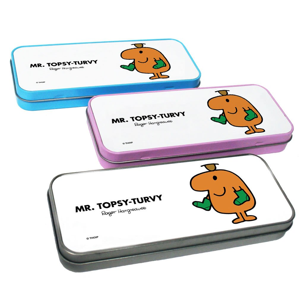 Mr. Topsy-turvy Pencil Case Tin