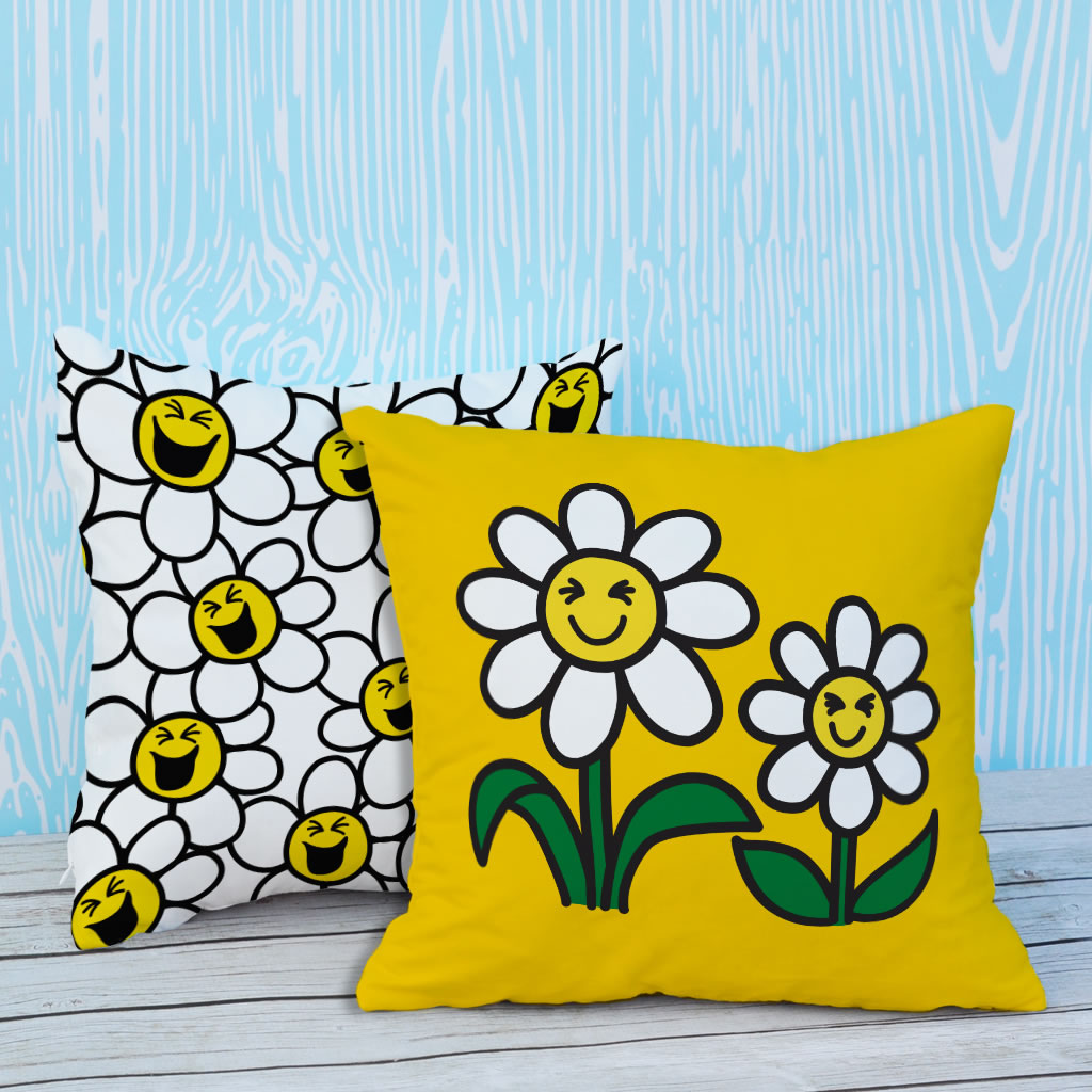 Laughing Daisies Cushion