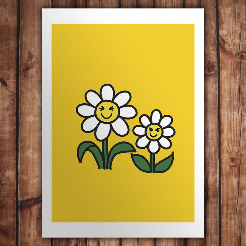 Laughing Daisies Art Print