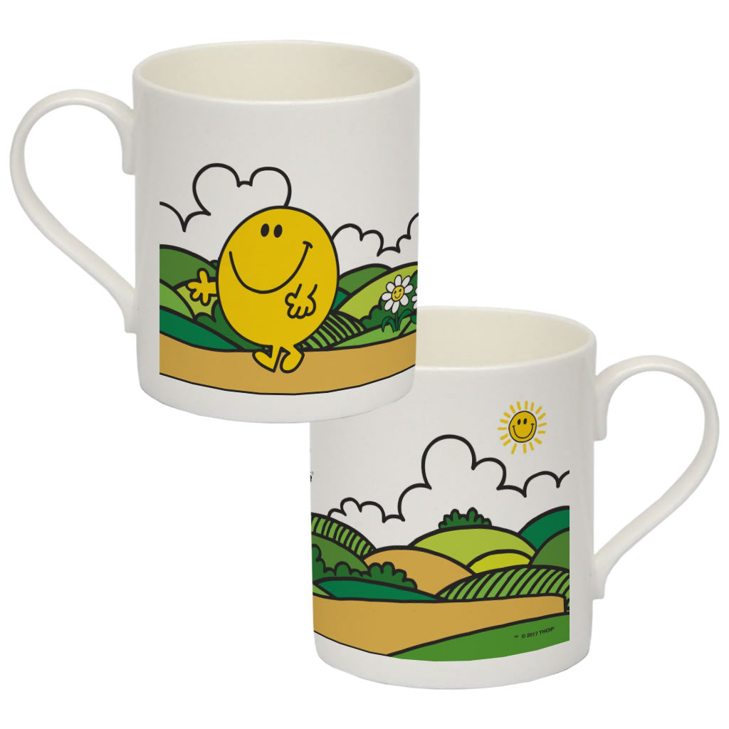 Mr. Happy Big Bone China Mug