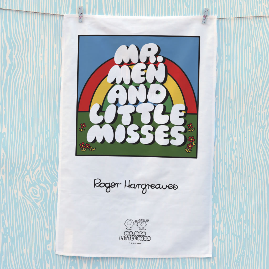 Mr. Men Little Miss Retro Font Tea Towel