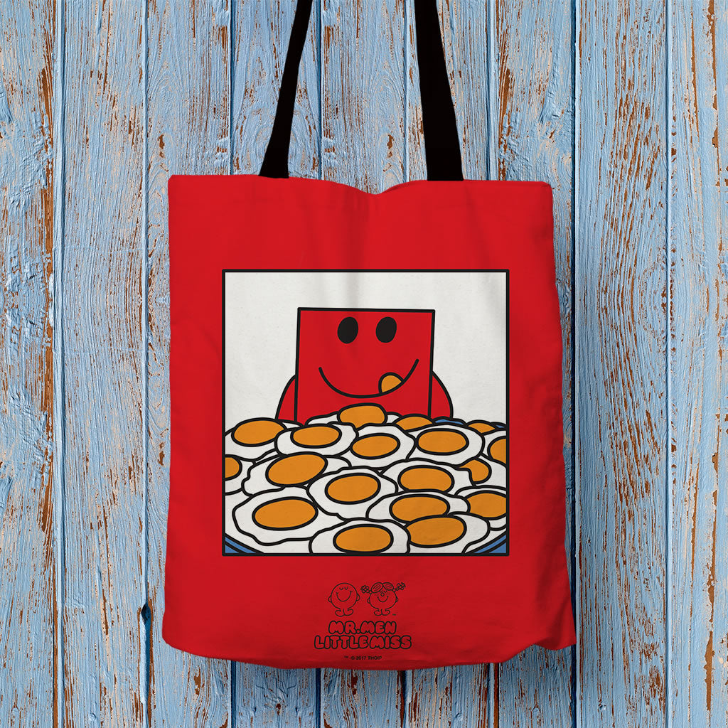 Mr. Strong and His Eggs Tote Bag