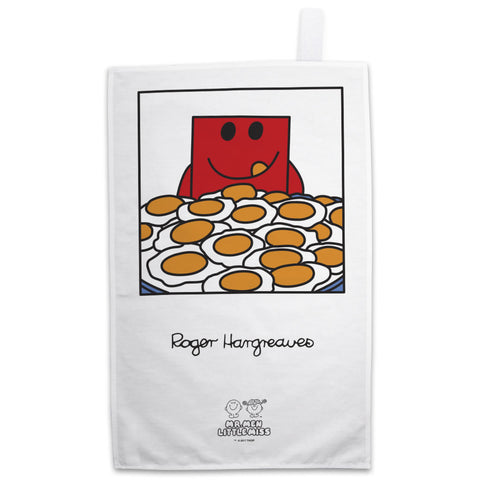 Mr. Strong and His Eggs Tea Towel