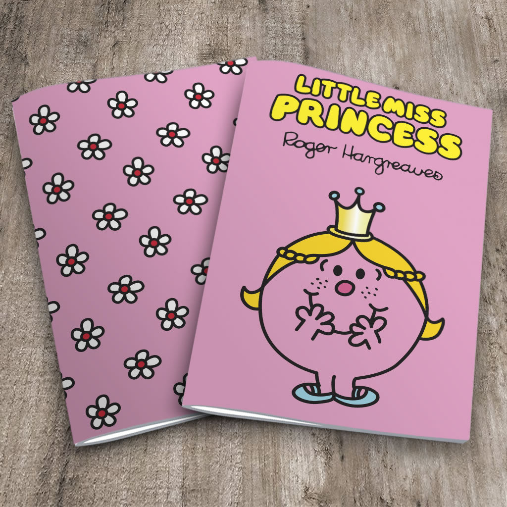 Little Miss Princess and Flowers Notebook 2 Pack