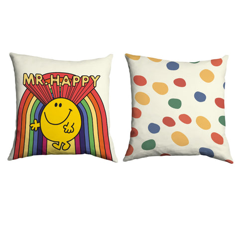 Mr. Happy Rainbow Cushion