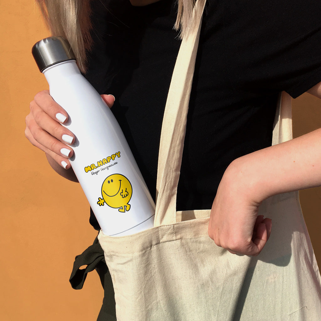 Mr. Happy Retro Premium Water Bottle