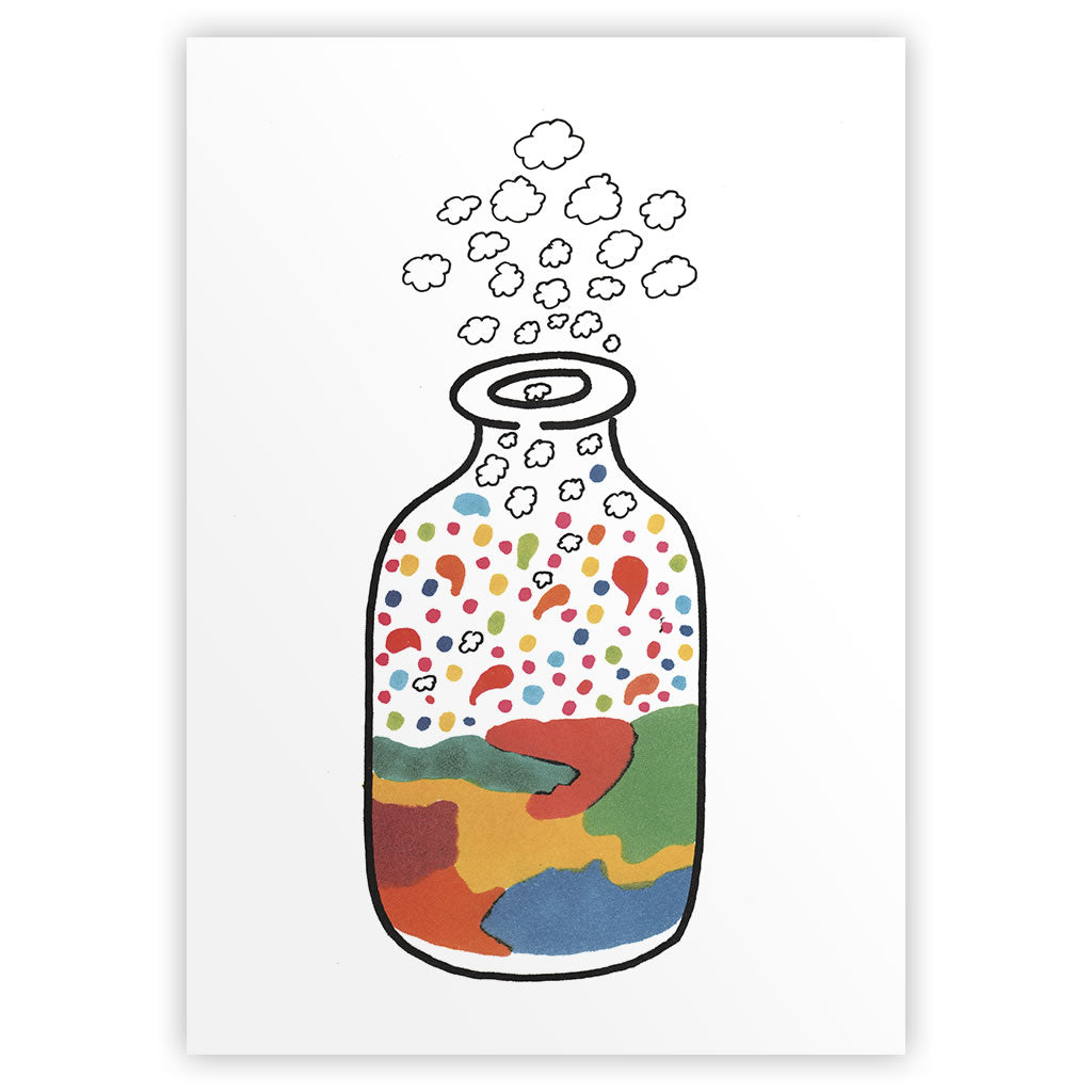 Magical Bottle Art Print