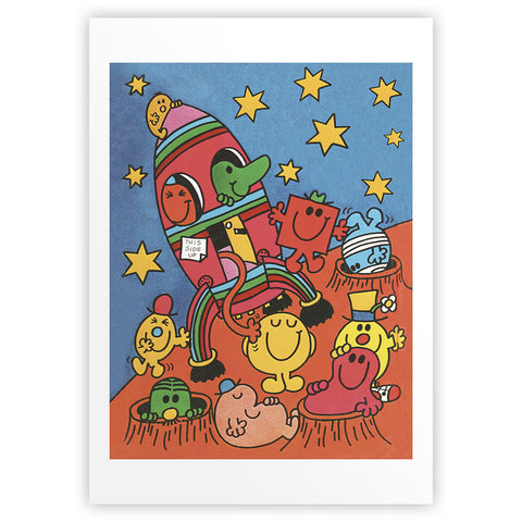 Mr. Men Outer Space Art Print