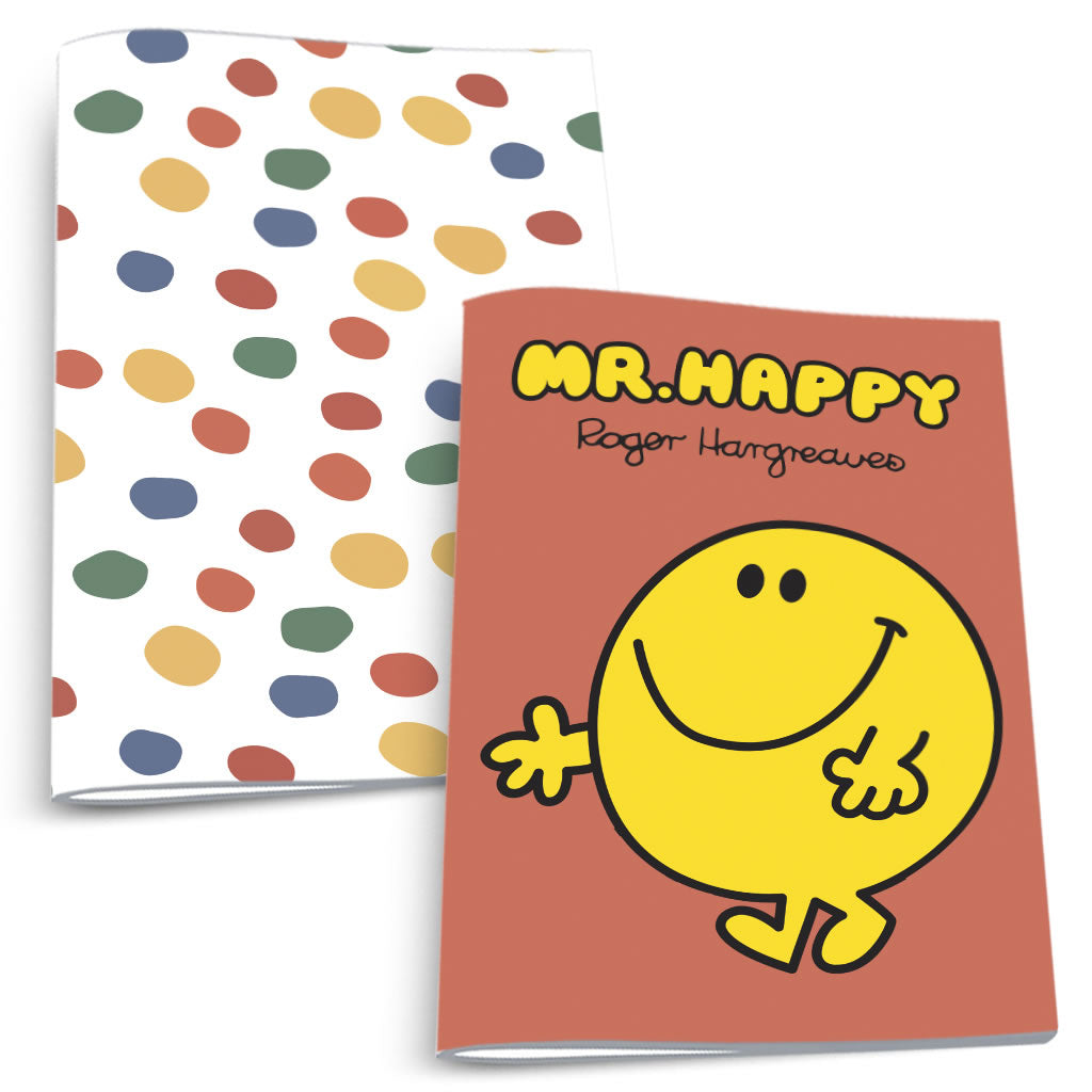 Mr. Happy and Dots Notebook 2 Pack