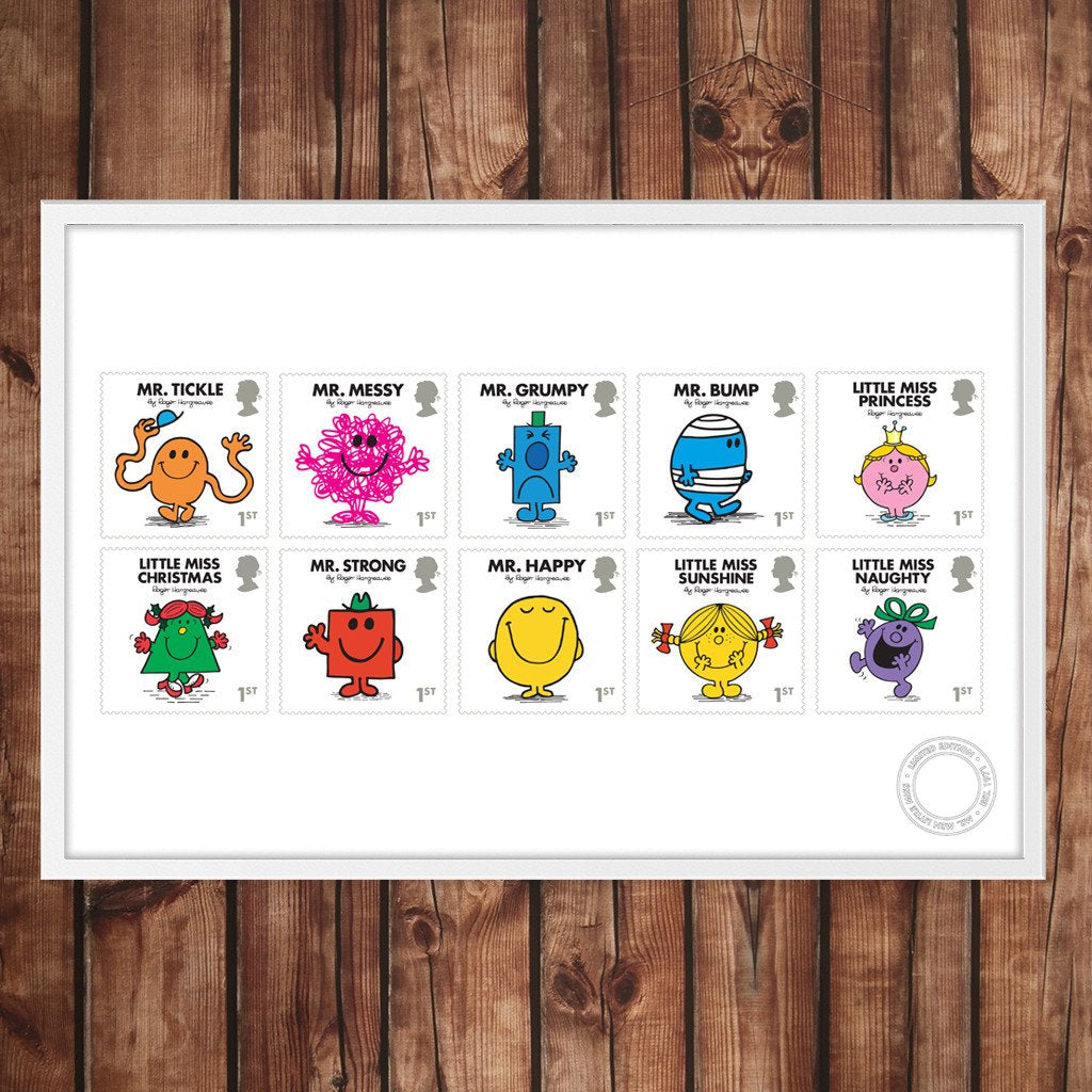 Mr. Men Little Miss Royal Mail stamps full set print