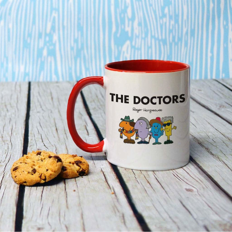 The Doctors Large Porcelain Colour Handle Mug (Lifestyle)