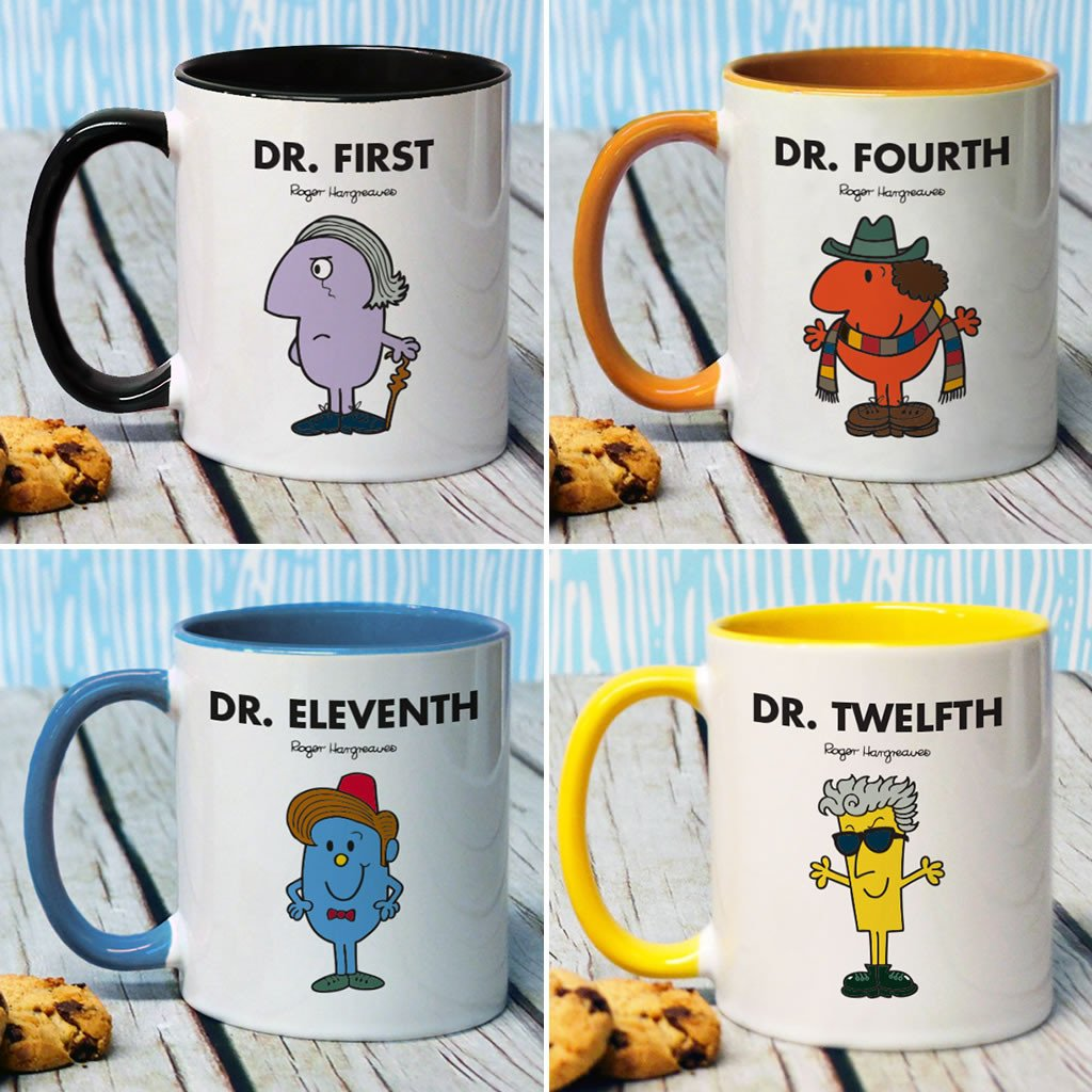 The Doctors Large Porcelain Colour Handle Mug Set (Lifestyle)