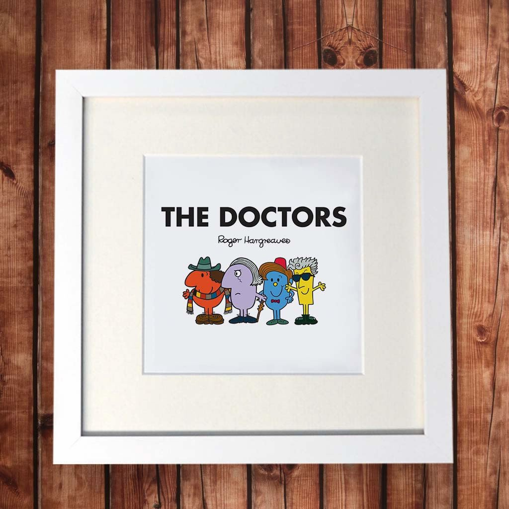 The Doctors White Framed Print (Lifestyle)