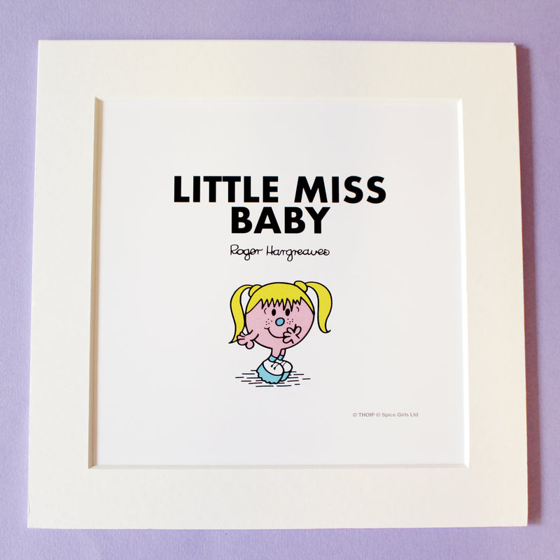 Little Miss Baby Art Print
