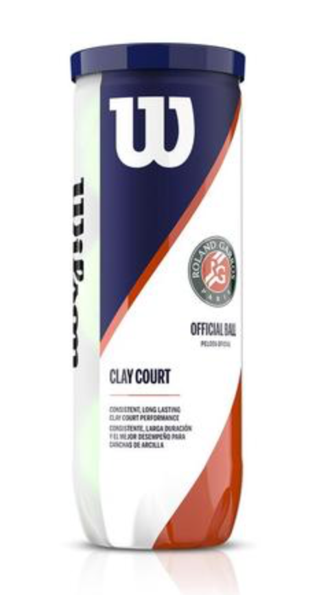 WILSON ROLAND GARROS CLAY COURT TENNIS BALL (3 BALL CAN)